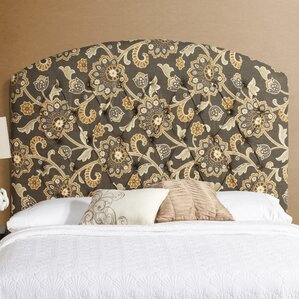 Lesa Curved Upholstered Headboard by House of Hampton