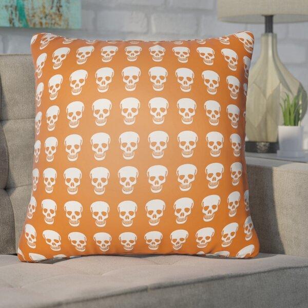 Calindra Skulls Throw Pillow by Ivy Bronx
