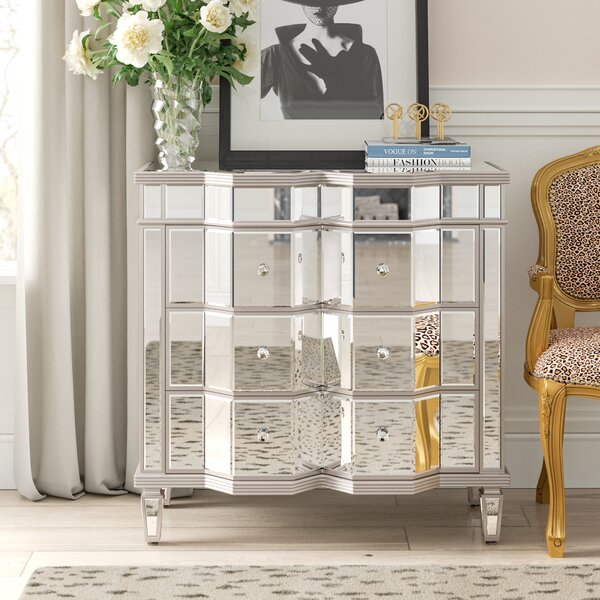 Gallaway Mirrored 3 Drawer Dresser by Everly Quinn