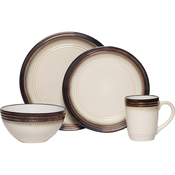 Gourmet Basics Bailey 16 Piece Dinnerware Set, Service for 4 by Mikasa