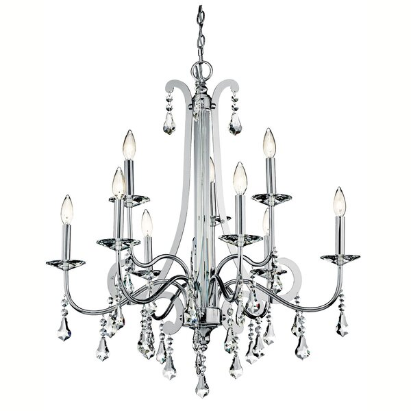 Bowmin 9 - Light Candle Style Classic / Traditional Chandelier by Rosdorf Park