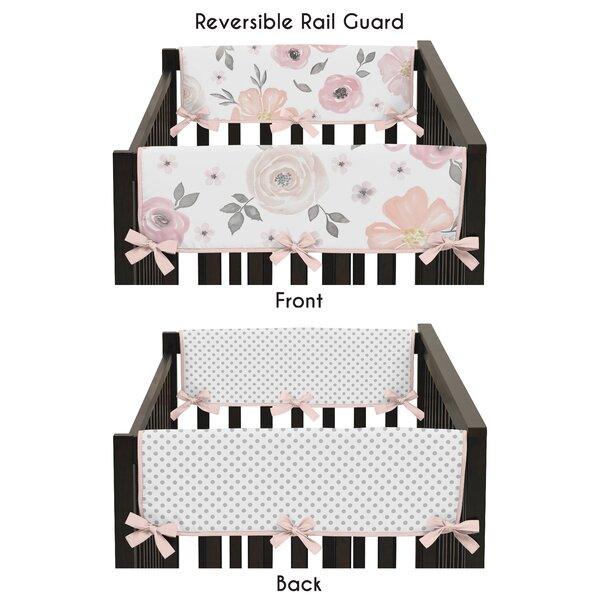 Watercolor Floral Crib Rail Guard Cover (Set of 2) by Sweet Jojo Designs