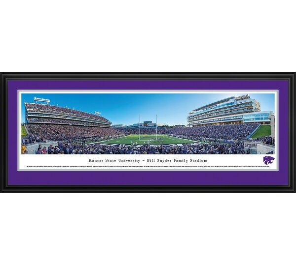 NCAA Kansas State University - Football 50 Yd by James Blakeway Framed Photographic Print by Blakeway Worldwide Panoramas, Inc
