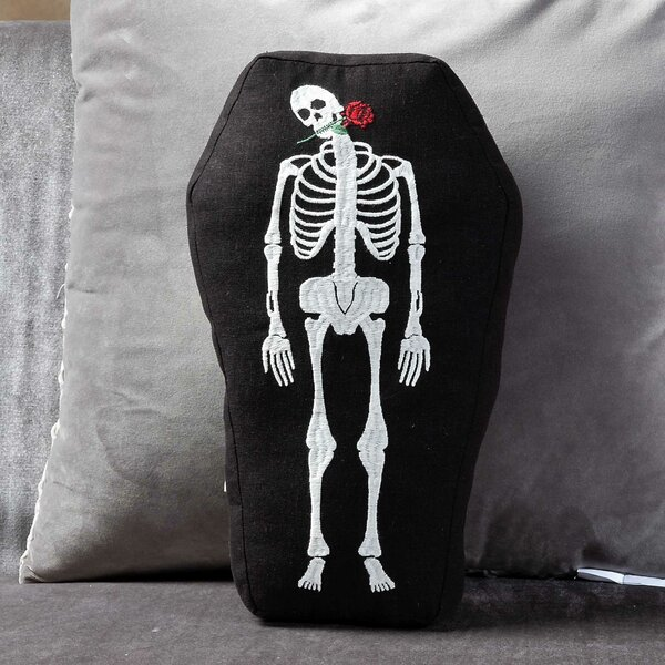 Day of the Dead Throw Pillow by The Holiday Aisle