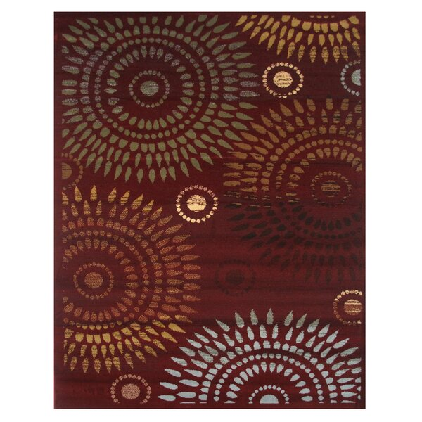 Inspiration Burgundy Area Rug by L.A. Rugs