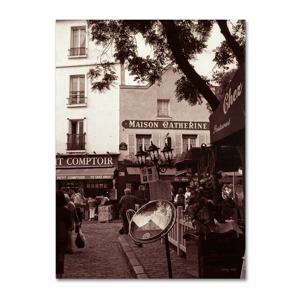 Maison Catherine, Montmartre by Kathy Yates Photographic Print on Wrapped Canvas by Trademark Fine Art