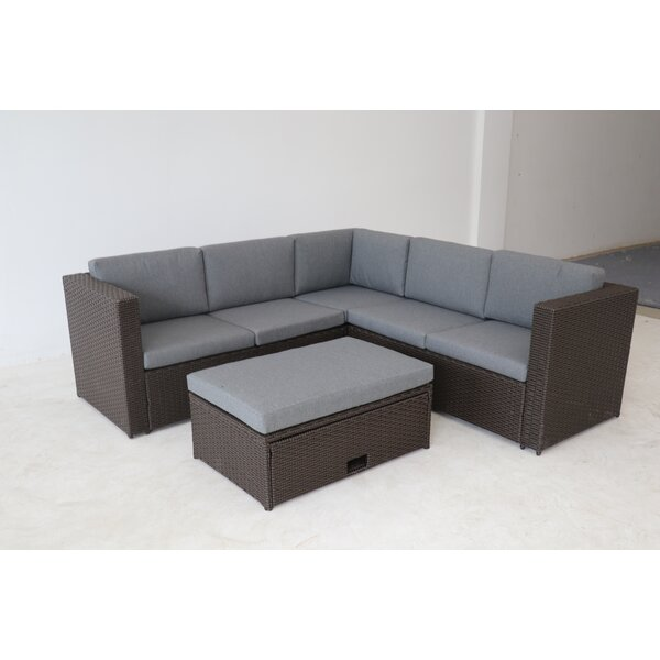 Pythagoras 4 Piece Sectional Seating Group with Cushions by Brayden Studio