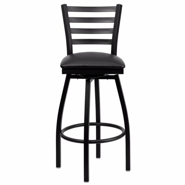 Dryden 32 Swivel Bar Stool with Cushion by Red Barrel Studio