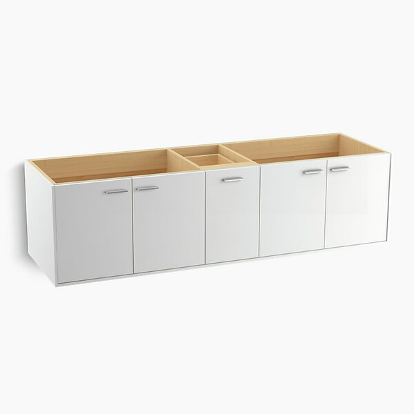 Jute™ 72 Vanity Base Only with 4 Doors and 1 Split Drawer