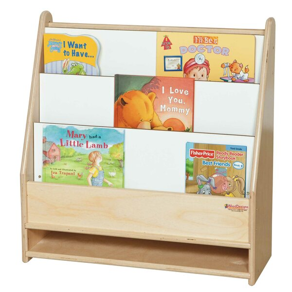 3 Compartment Book Display by Wood Designs