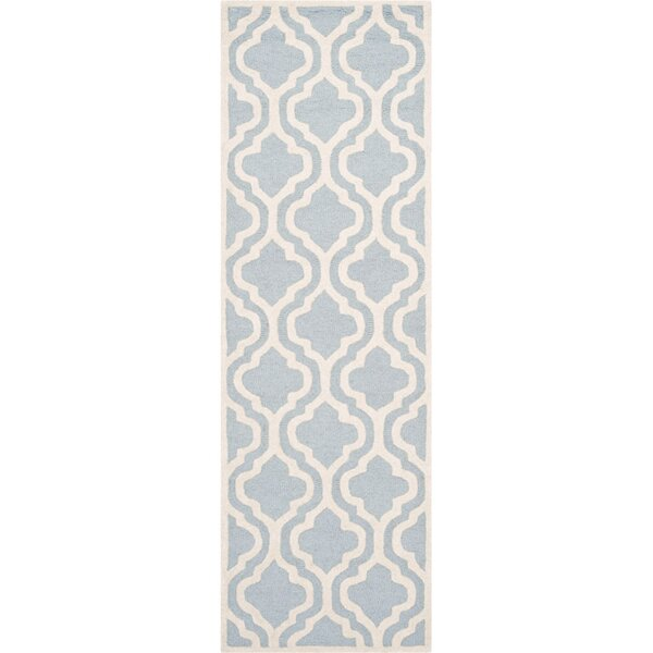 Martins Hand-Tufted Blue/Ivory Area Rug by Wrought Studio