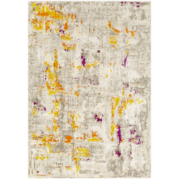 Diggins Distressed Burnt Orange/Mustard Area Rug by Williston Forge