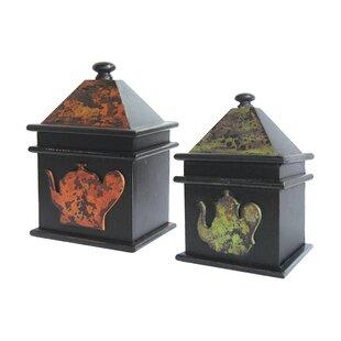 Reviews 2 Piece Tea Pot Box Set ByAugust Grove