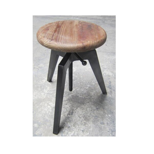 Bookout Adjustable Height Bar Stool by Williston Forge