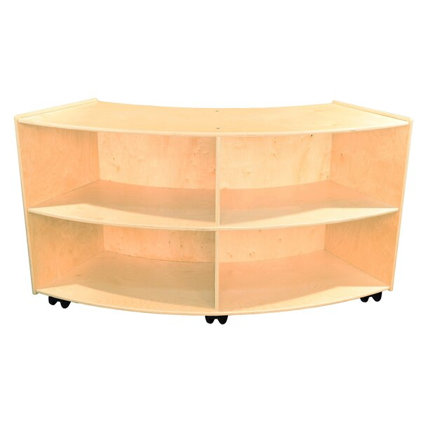 Clarendon 4 Compartment Shelving Unit with Casters by Symple Stuff