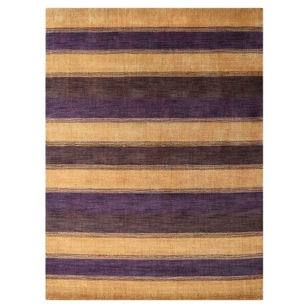 St Catherine Hand-Woven Wool Gold/Purple Area Rug by Millwood Pines
