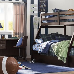 Check Prices Reece Twin Over Full Bunk Bed with Storage Ladder and Trundle By Viv + Rae
