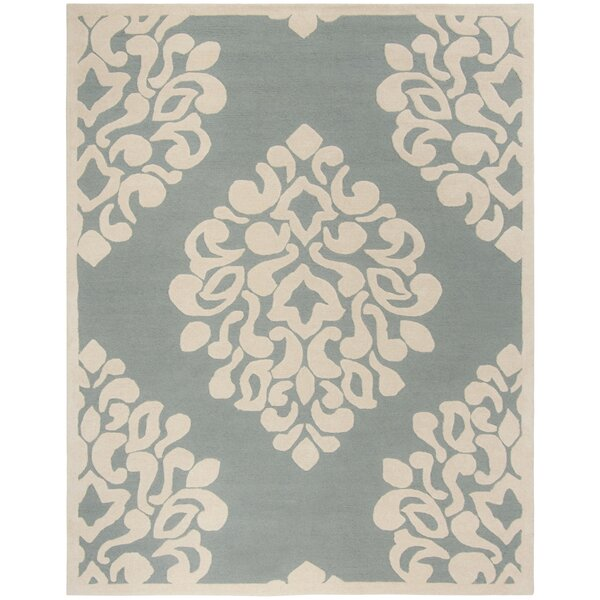 Floret Hand-Loomed Green/Beige Area Rug by Martha Stewart Rugs