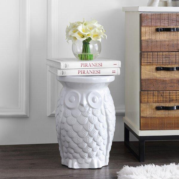 Barkhampstead Owl Ceramic Garden Stool by Winston Porter Winston Porter