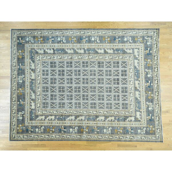 One-of-a-Kind Beaumont Antiqued Pazyryk Design Handwoven Wool Area Rug by Isabelline