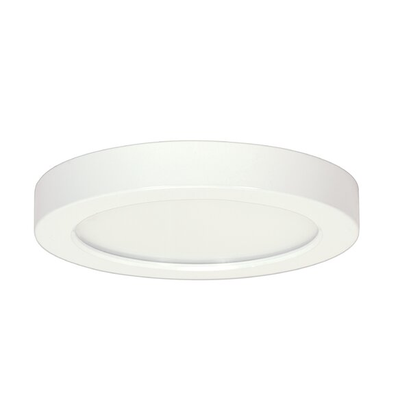 Elzy Round 1-Light LED Flush Mount by Orren Ellis