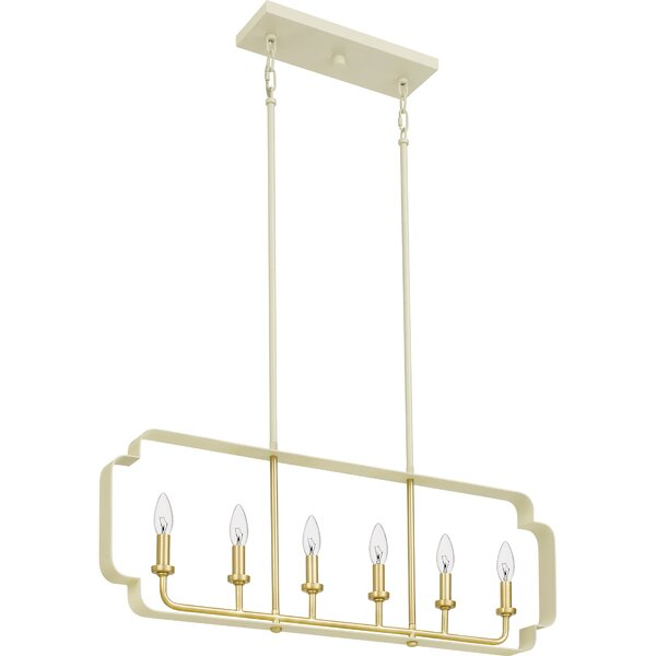 Kuester 6-Light Square/Rectangle Chandelier By Mercer41