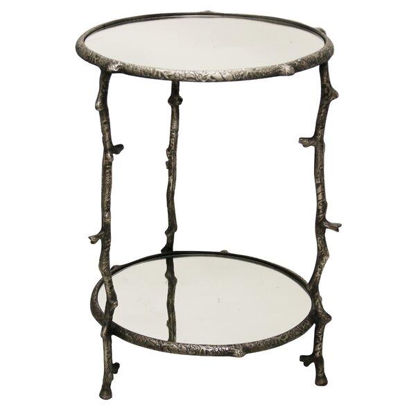 Devan Cast Aluminum 2 Tier Twig End Table By Bloomsbury Market