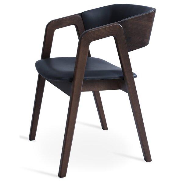 Papken Upholstered Armchair in Black by Latitude Run Latitude Run