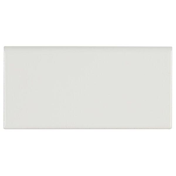 Guilford 6 x 3 Ceramic Bullnose Tile Trim in White by Itona Tile
