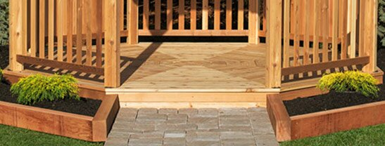 12 ft. Cedar Octagon Gazebo Floor by YardCraft