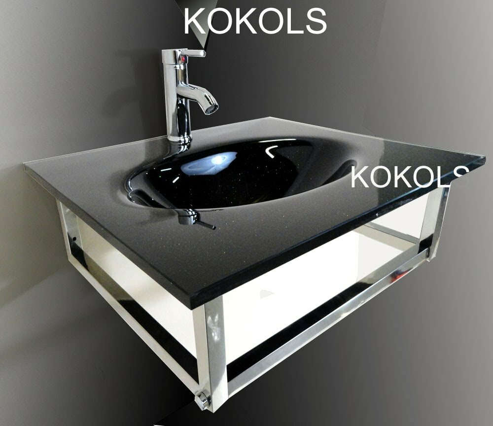 Kokols Glass Rectangular Vessel Bathroom Sink with Faucet & Reviews ...