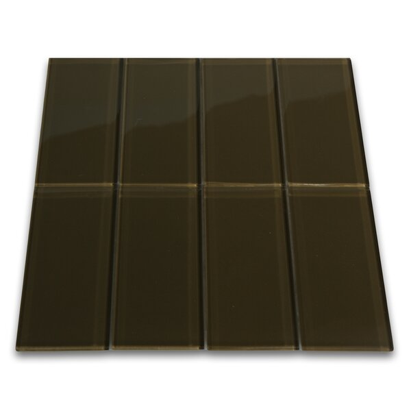 Carbon 3 x 6 Glass Mosaic Tile in Chocolate by CNK Tile
