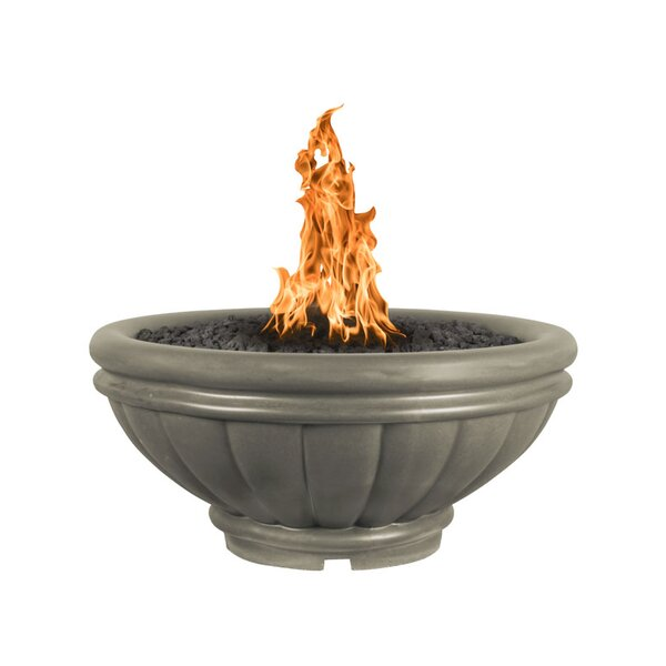 Roma Bowl Concrete Fire Pit by The Outdoor Plus