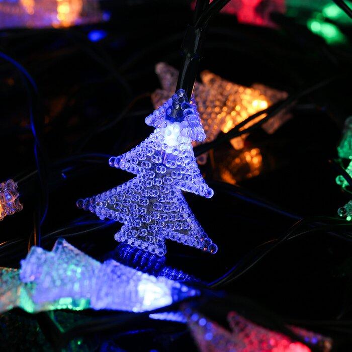 Winsomehouse solar outdoor christmas tree led 20 light string solar outdoor christmas tree led 20 light string lighting aloadofball Images