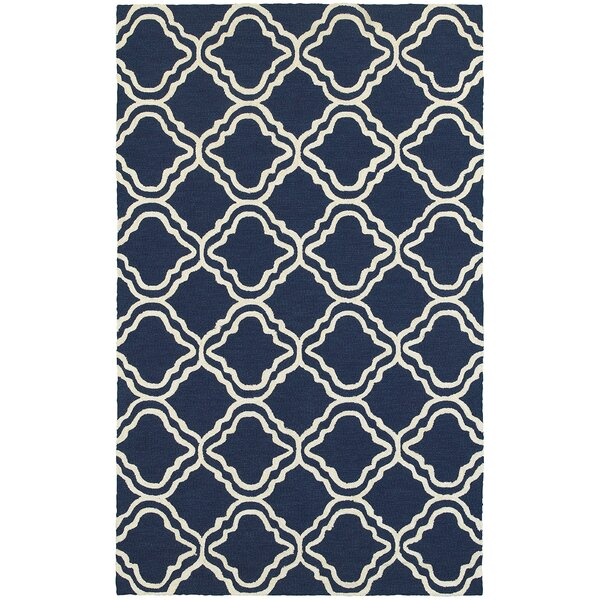Atrium Trellis Panel Blue & Ivory Indoor/Outdoor Area Rug by Tommy Bahama Home