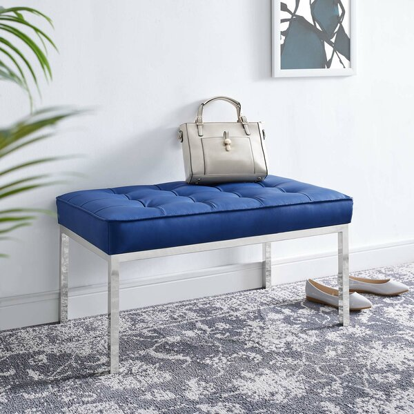 Neher Faux Leather Bench By Orren Ellis by Orren Ellis 2020 Coupon