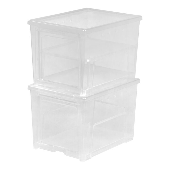 Easy Access Shoe Storage Box  sc 1 st  Wayfair.ca & IRIS Easy Access Shoe Storage Box u0026 Reviews | Wayfair.ca