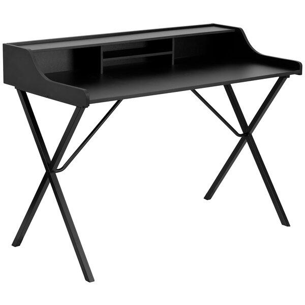 Secretary Desk with Top Shelf by Offex