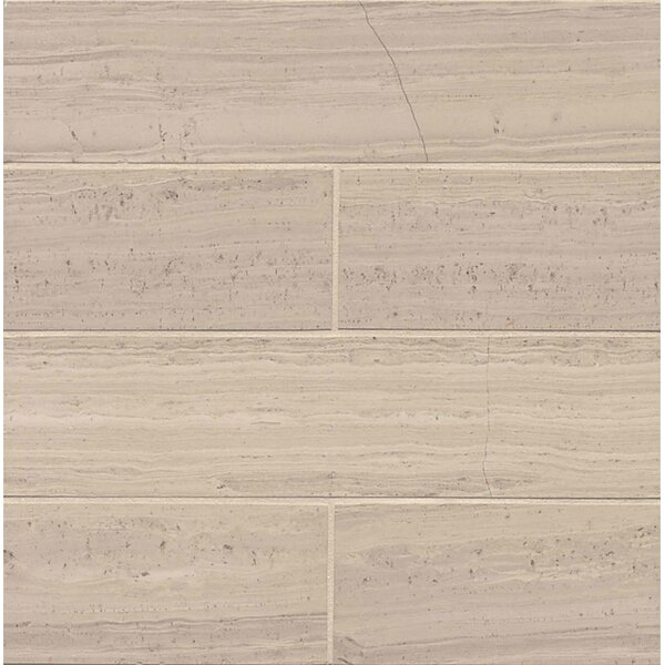 Maison 2.94 x 12 Marble Wood Look/Field Tile in Ashen Gray by Bedrosians