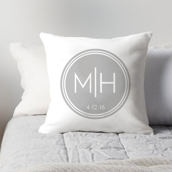 Personalized Couples Initials in Circle Throw Pillow by 4 Wooden Shoes
