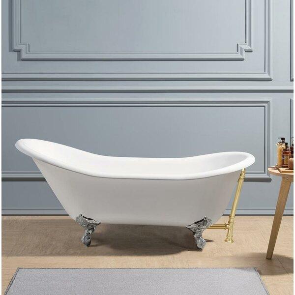 Cast Iron 67 x 30 Clawfoot Soaking Bathtub by Streamline Bath