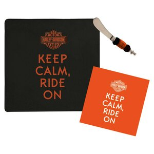 3 Piece Harley-Davidsonu00ae Its a Party Cheeseboard Set
