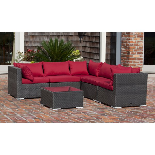 Sino 5 Piece Sectional Seating Group with Cushions by PatioSense