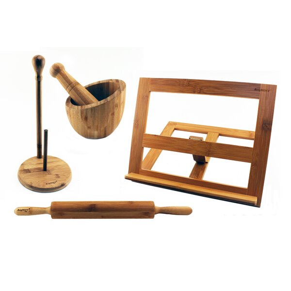 Bamboo 4 Piece Paper Towel Holder by BergHOFF International