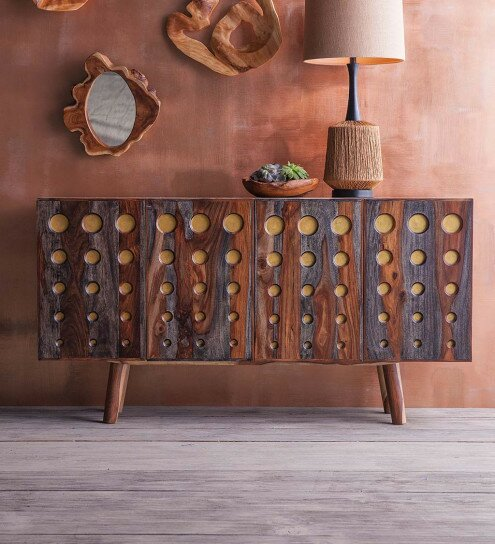 Rosalez Dot Sheesham Wood Console Table by Bloomsbury Market