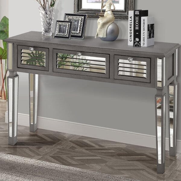 Summit Mirrored Console Table by Gallerie Decor
