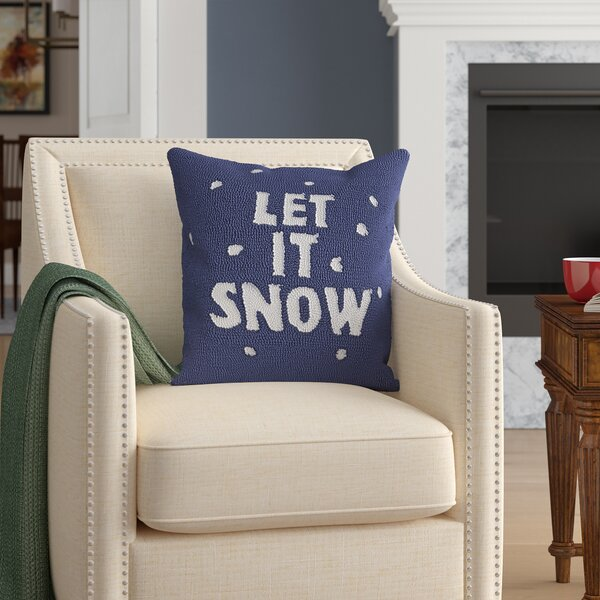 Haggerty Let It Snow Throw Pillow by Three Posts
