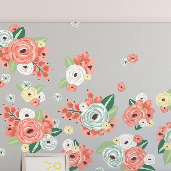 29 Piece Graphic Flowers Wall Decal Set by Urban Walls