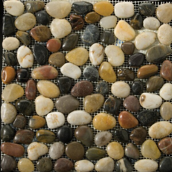 Rivera Pebbles 12 x 12 Mosaic in 4-Color Blend by Emser Tile