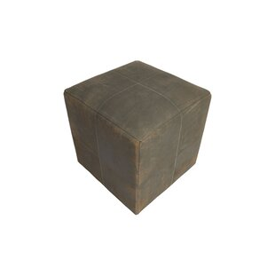 Penhook Distressed Leather Pouf By Union Rustic